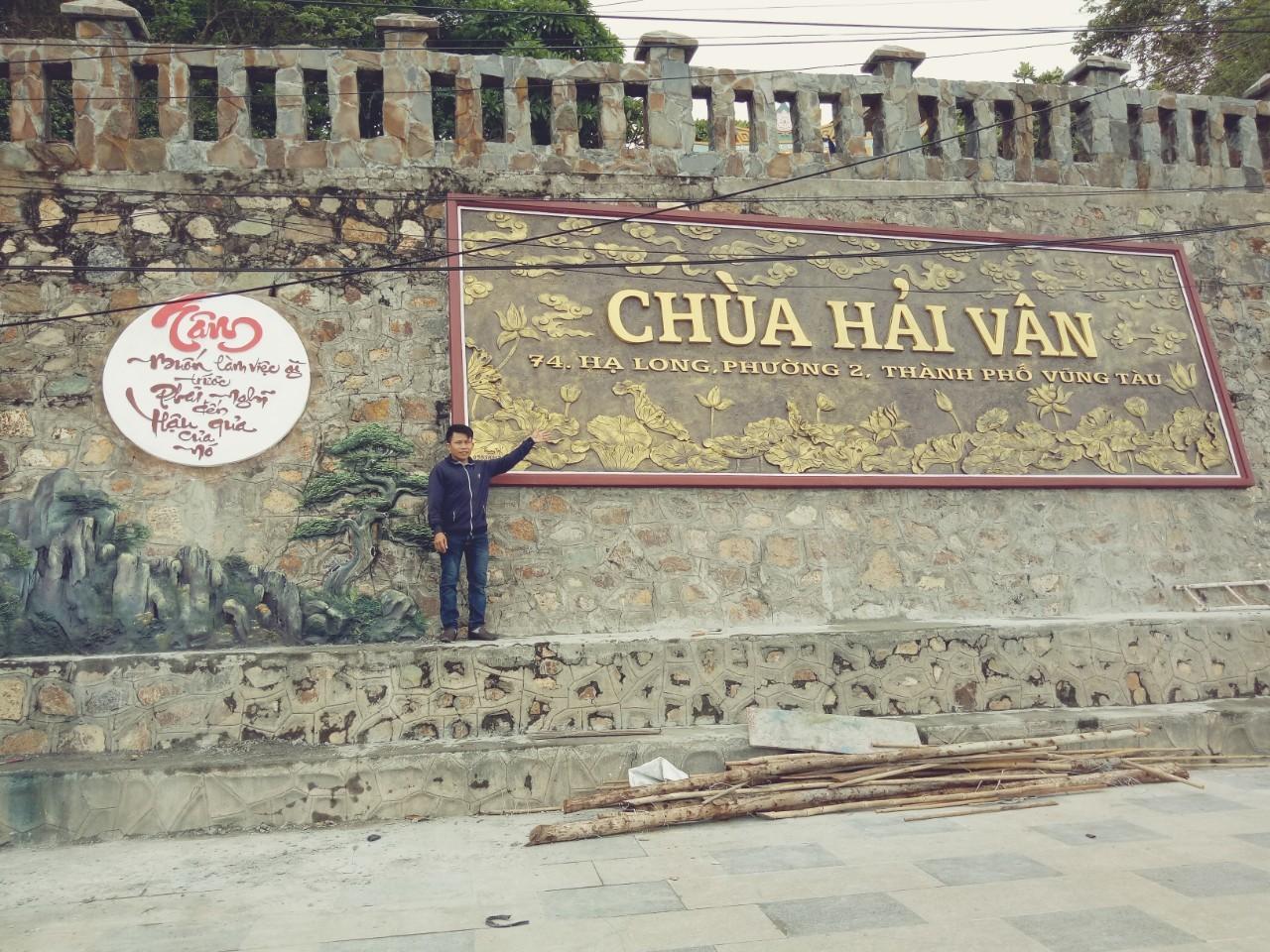Phù điêu chùa Hải Vân
